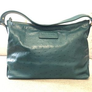 Kate Spade Emerald Jade Green Ostrich Shoulder Bag
